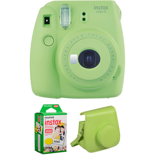 INSTAX MINI 9 FILM AND CASE KIT Barva: Lime Green