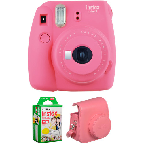 INSTAX MINI 9 FILM AND CASE KIT Barva: Flamingo Pink