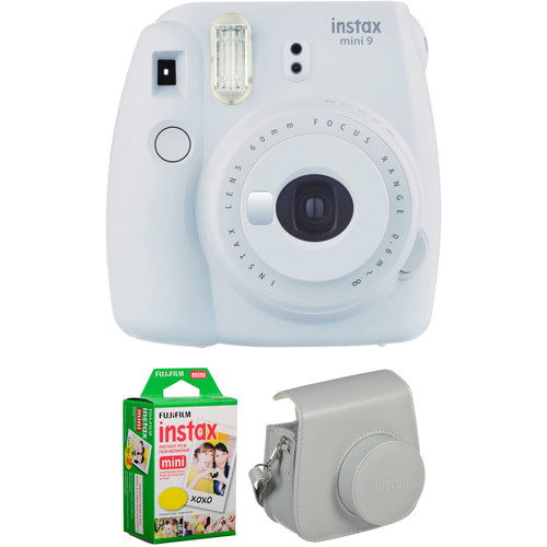 INSTAX MINI 9 FILM AND CASE KIT Barva: Smokey White