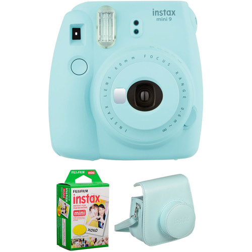 INSTAX MINI 9 FILM AND CASE KIT Barva: Ice Blue