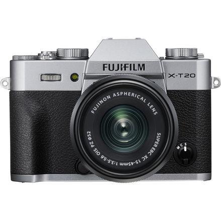 FUJIFILM X-T20 + XC 15-45mm/f3,5-5,6 OIS + dárkový set v hodnotě 2 700,- Kč Barva: stříbrná