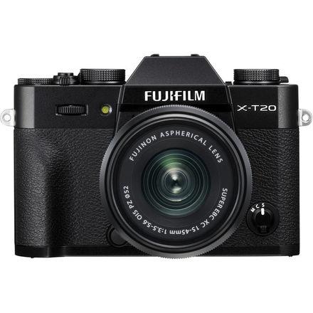 FUJIFILM X-T20 + XC 15-45mm/f3,5-5,6 OIS + dárkový set v hodnotě 2 700,- Kč Barva: černá