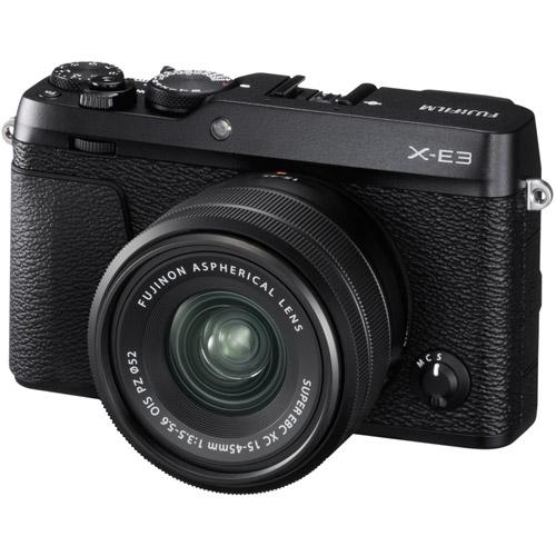FUJIFILM X-E3 + XC 15-45mm/f3,5-5,6 OIS CASHBACK 2600,- Kč + dárkový set v hodnotě 2 700,- Kč Barva: černá