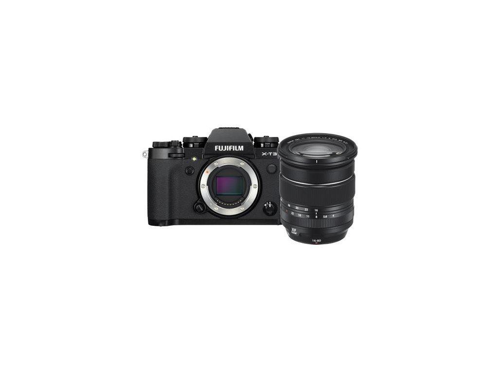 FUJIFILM X-T3 + XF 16-80mm/f4, čierny