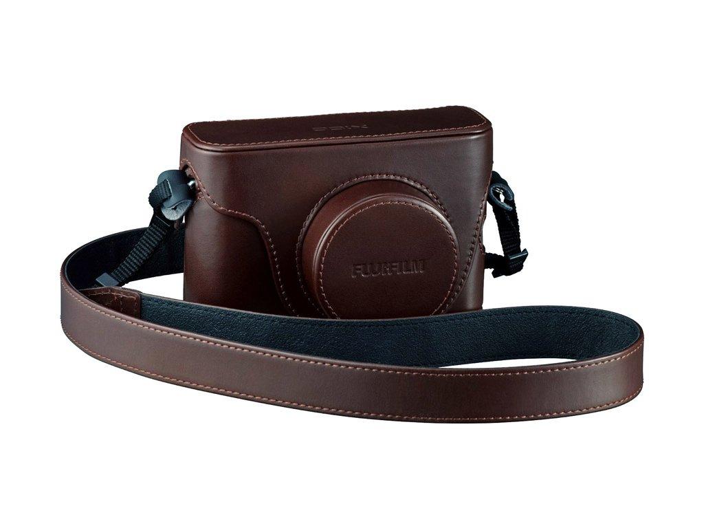 Kožené púzdro Fujifilm LC-X100F - Hnedé