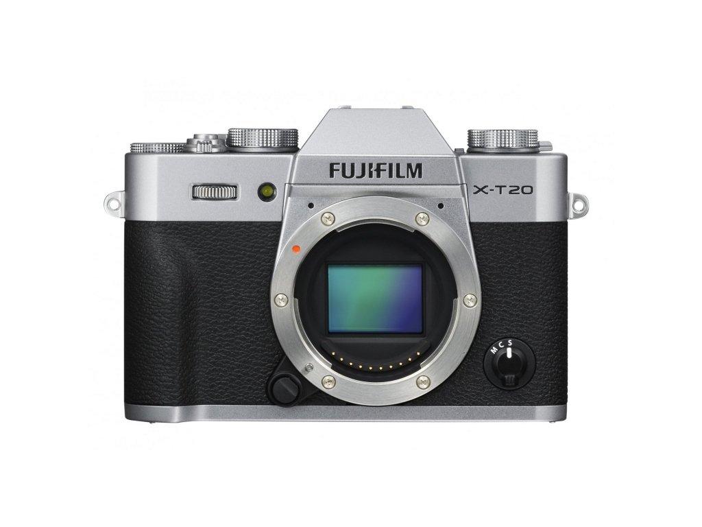 Fujifilm X-T20 telo, strieborný