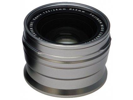 Fujifilm WCL-X100 širokouhlá predsádka, strieborná