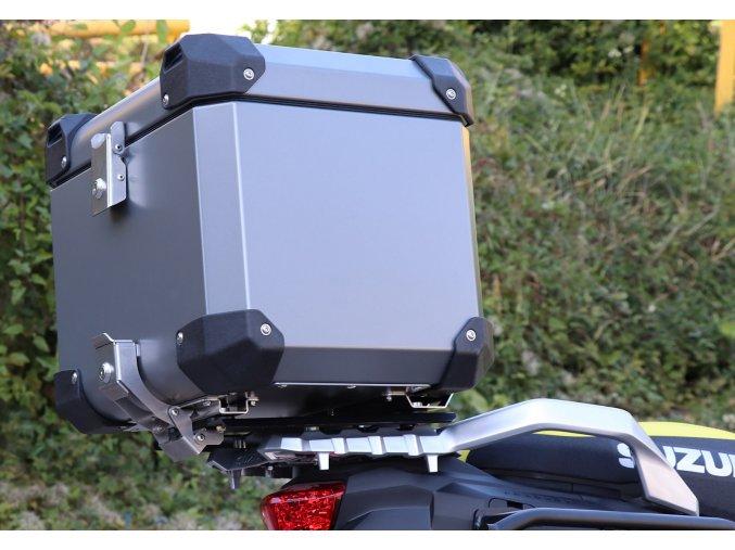 Górny kufer 30 / 43 litrow + Płyta mocująca - Suzuki DL1000 V-Strom (Kolor czarny, objętość 43 litrów)