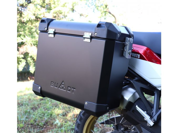 Stelaze kufrów i kufry DEFENDER EVO - BMW R1200 GS (Kolor czarny, objętość 45+41 litrów)