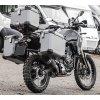 Górny kufer 30 / 43 litrow + Płyta mocująca - Yamaha Tenere 700 (Kolor Srebrny, Konfiguracja dla T700 Kufer + stelaż + konstrukcja nośna dla Tenere, Velikost 43 litrów)