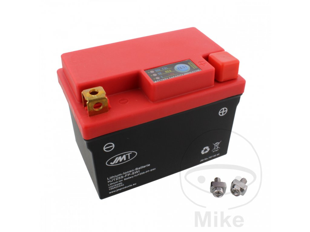 Motobatéria JMP Lithium 12V/1,6Ah/19Wh/96A