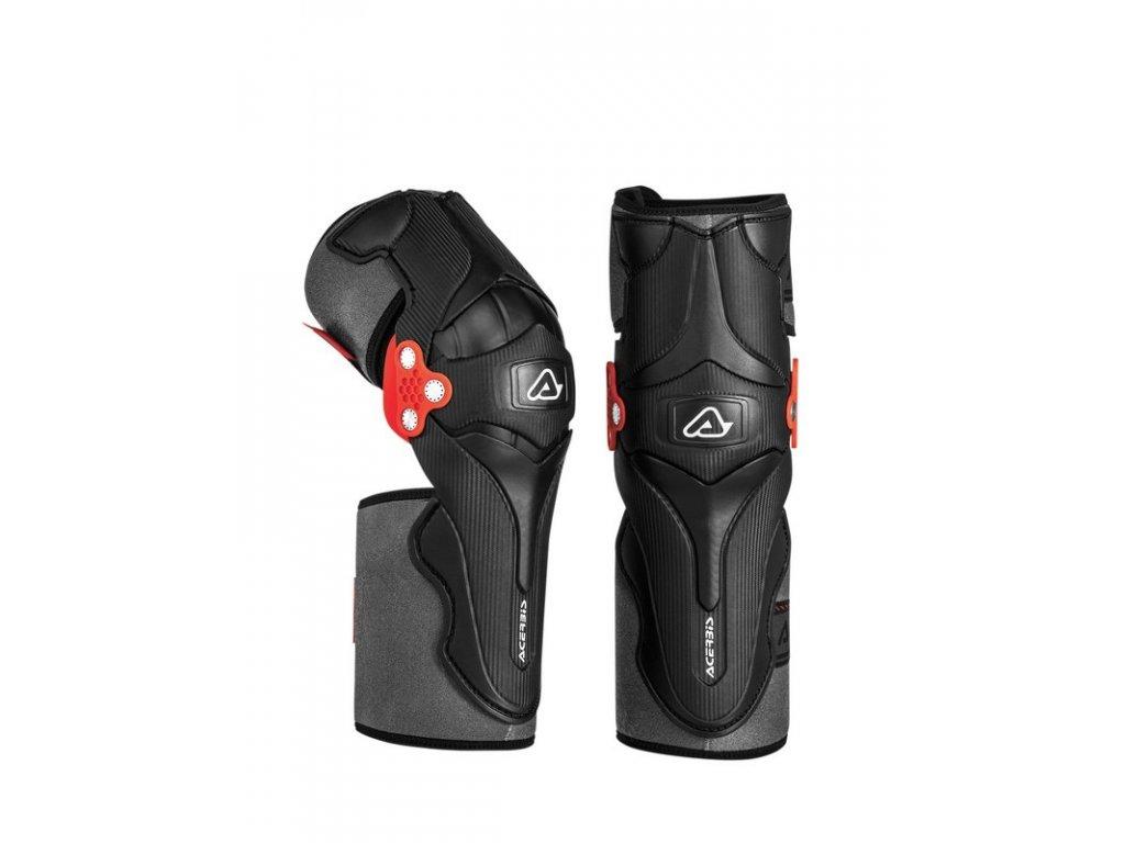 Chrániče kolien ACERBIS X-STRONG - čierna/červená