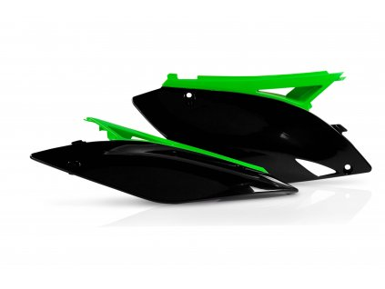Bočné plasty ACERBIS KAW KXF 250 09-12 BLACK/GREEN