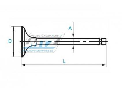 Ventil ocelový Husqvarna TE410 + TE610 / Husaberg FE501 + FE450 - ¤27,0mm