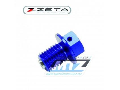 Magnetická výpustná skrutka M10x15mm (závit 1,25) - modrý (Yamaha + Suzuki)