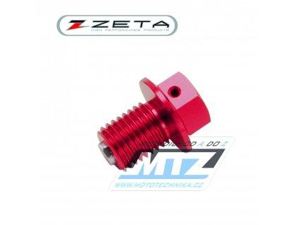 Magnetická výpustná skrutka M10x15mm (závit 1,25) - červený (Yamaha + Suzuki)