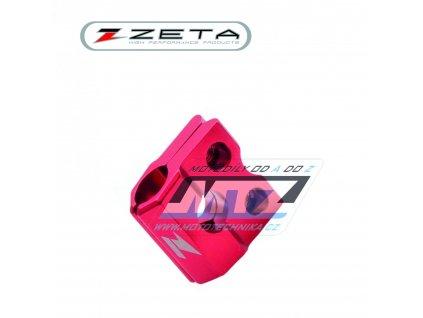 Držiak přední brzdové hadice ZETA - červený