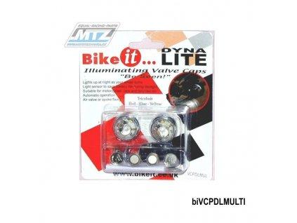 Osvětlení kol BikeIt DynaLite MULTI (červené, modré, žlté)