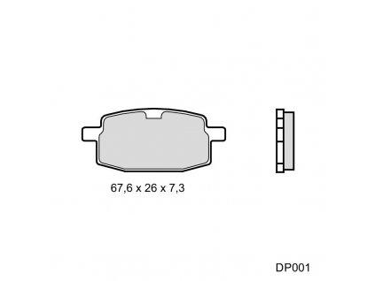 Brzdové doštičky DP001-MTZ