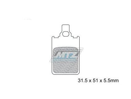 Brzdové doštičky DP002-MTZ