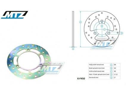 Kotouč brzdový MTZ Classic - Suzuki RM80 / 86-01+RM85 / 02-04