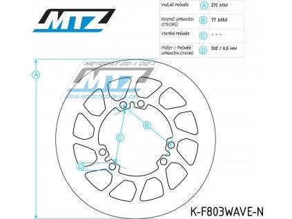 Kotouč brzdový MTZ Classic - TM125+250+300+450 EN/MX/05-15