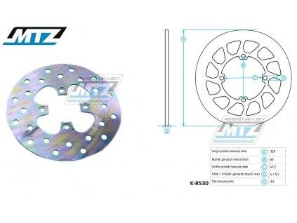 Kotouč brzdový MTZ Classic - KTM SX65 / 00-03