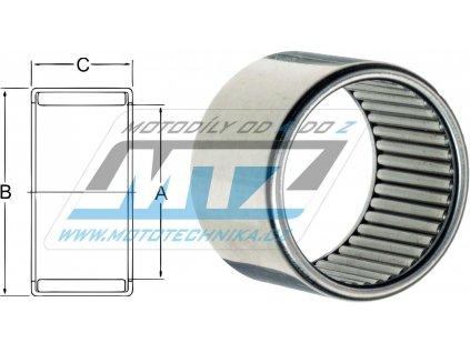 Ložisko jehlové celojehlové - rozmery: 17x24x12mm
