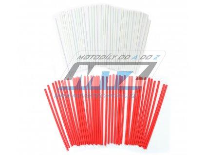 Návleky na špice (1sada) - bielo-červené