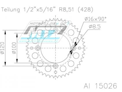 Rozeta Dural 51-15026-48 ESJOT - Beta RR 125 LC