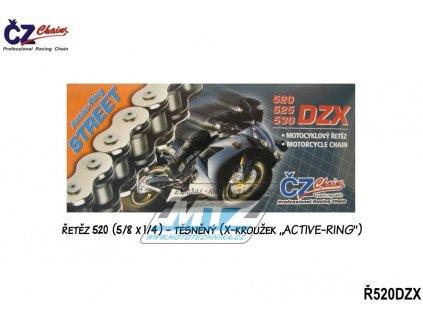 Reťaz ČZ 520 DZX (120čl) - těsněný/ x kroužkový