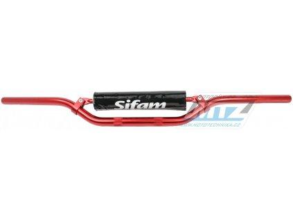 Řidítka s hrazdou (priemer 22mm) KYOTO s polstrem - červené