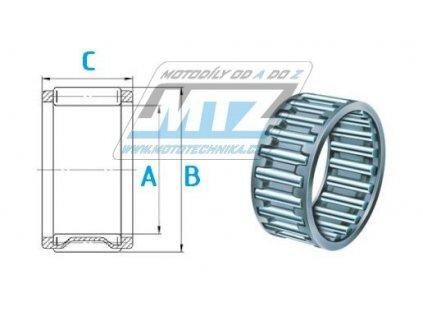 Ložisko jehlové ojniční spodní Hot Rods (rozmery 24x30x15mm)