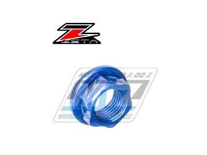 Matice osky předního kola ZETA - modrá - Honda CR125+CR250+CRF250R+CRF450R + CRF250X+CRF450X+CRF250RX+CRF450RX+CRF450L + Yamaha YZ125+YZ250+YZF250+YZF450 + WRF250+WRF450 + WR250X+WR250R + Kawasaki KX125+KX250