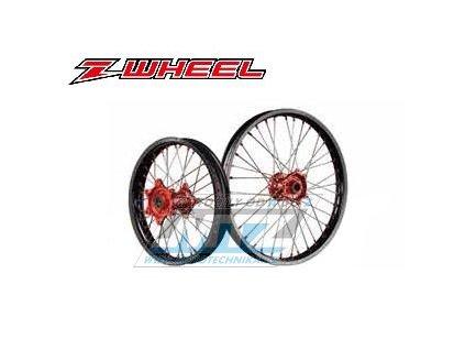 """Kompletné predné koleso 1,60x21"""" (červený náboj / čierny ráfek) - Honda CRF250L / 12-16"""
