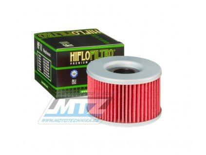 Olejový filter HF111 (HifloFiltro) - Honda CB250 + CBR250 + VT250 + VTR250 + CB350 + CB400 + CB450 + CX500 + GL500 + CBX550 + CX650 + TRX400 + TRX500 + TRX650 + TRX680 + MUV700 + SXS700