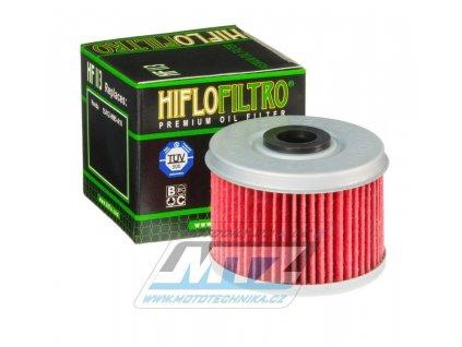 Olejový filter HF113 (HifloFiltro) - Honda CBF125+VT125C+XL125V Varadero+CBF250+ATC250 +ATC350X+TRX250X Fourtrax+TRX300+TRX350+TRX400 Fourtrax Foreman + TRX400EX+TRX420 Fourtrax Rancher+TRX450 Fourtrax Foreman + TRX500 Fourtrax Foreman