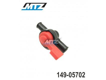 """Palivový ventil (vypínání paliva ON/OFF) pro hadičku 1/4"""" (6mm)"""