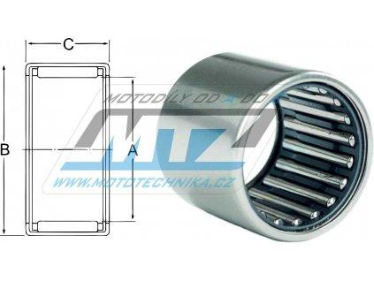 Ložisko jehlové s klecí - rozmery: 17x24x15mm
