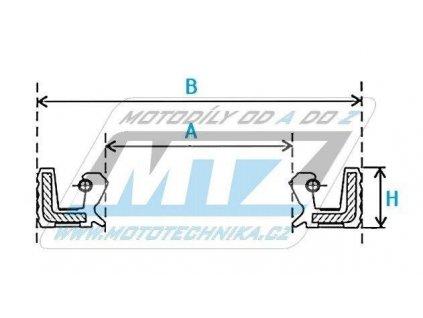 Gufero vodného čerpadla motoru (rozmery: 12x25x7mm) - Yamaha YZ85 / 02-18 + YZ125+YZ250+YZF250+YZF400+YZF426+YZF450 + WRF250+WRF400+WRF426+WRF450 + Gas-Gas EC250F+EC300F+EC450F