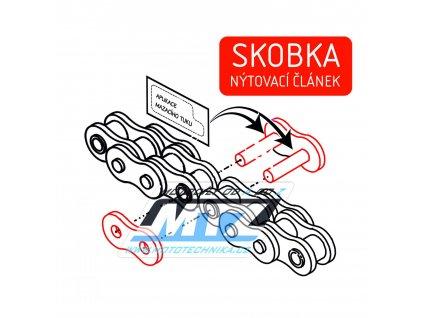 Spojovací článok reťaze (nýtovací skobka) pro řetěz Basic 520 HS