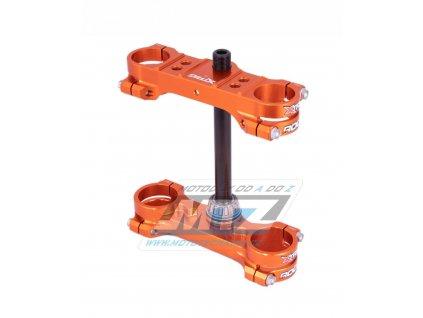 Okuláre (Triple-Clamps) kompletní Xtrig ROCS TECH - KTM 50SX / 17-20 + Husqvarna TC50 / 17-20 - oranžové