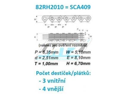 Reťaz rozvodový 82RH2010 = SCA409 (metráž řetězu v roli - možnost jakéhokoliv počtu článků)
