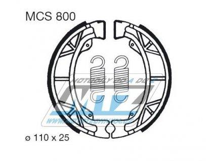 Brzdové obloženie (čeľuste) MCS800