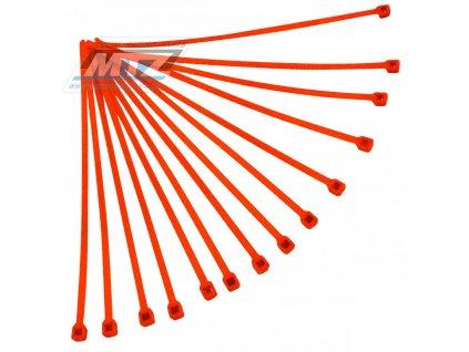 Pásky stahovací (sada 20ks) - rozmer 4,8x280mm - oranžové