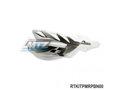 Chrániče rúk (kryty páčok) Racetech/MEC RAPTOR vrátane univerzálho montážneho kitu  - farba biela
