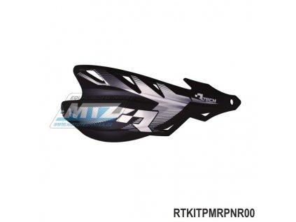Chrániče rúk (kryty páčok) Racetech/MEC RAPTOR vrátane univerzálho montážneho kitu  - farba čierna