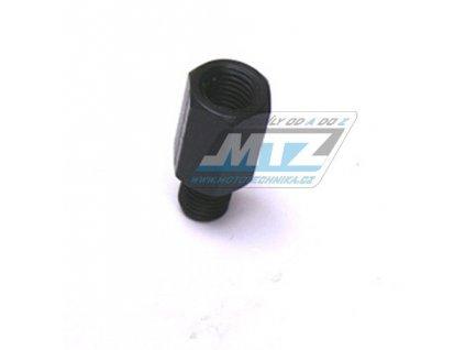 Adaptér spätného zrkadla 10mm Ľavý závit vonkajší  / 10mm Pravý závit vnútorný (farba čierna)
