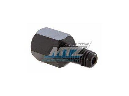 Adaptér spätného zrkadla 10mm Ľavý závit vonkajší  / 10mm Ľavý závit vnútorný (farba čierna)