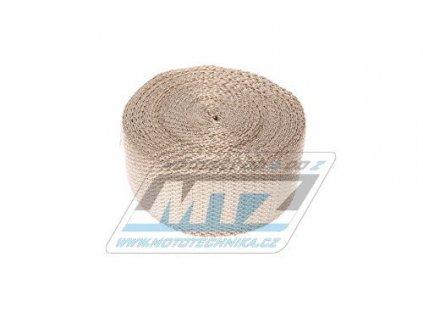 Páska izolační na výfuk 50mm / návin 10m (1200°C) - mosaz